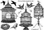 Beautiful Birdcages Crafty Individuals Stamp (CI-329)